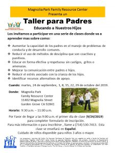 Parent Empowerment Course (Spanish) @ Magnolia Park Family Resource Center  |  |  |