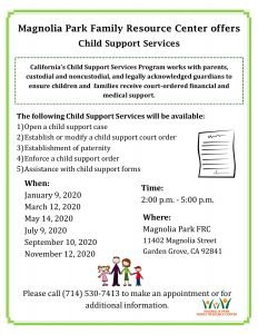 Child Support Services @ Magnolia Park Family Resource Center