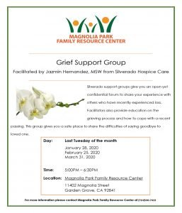 Grief Support Group (Spanish) @ Magnolia Park Family Resource Center