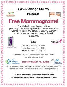 Free Mammograms @ Magnolia Park Family Resource Center  |  |  |