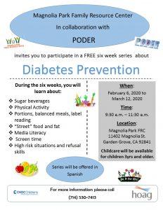Diabetes Prevention @ Magnolia Park Family Resource Center