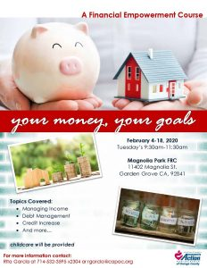 Your Money , Your Goals @ Magnolia Park Family Resource Center