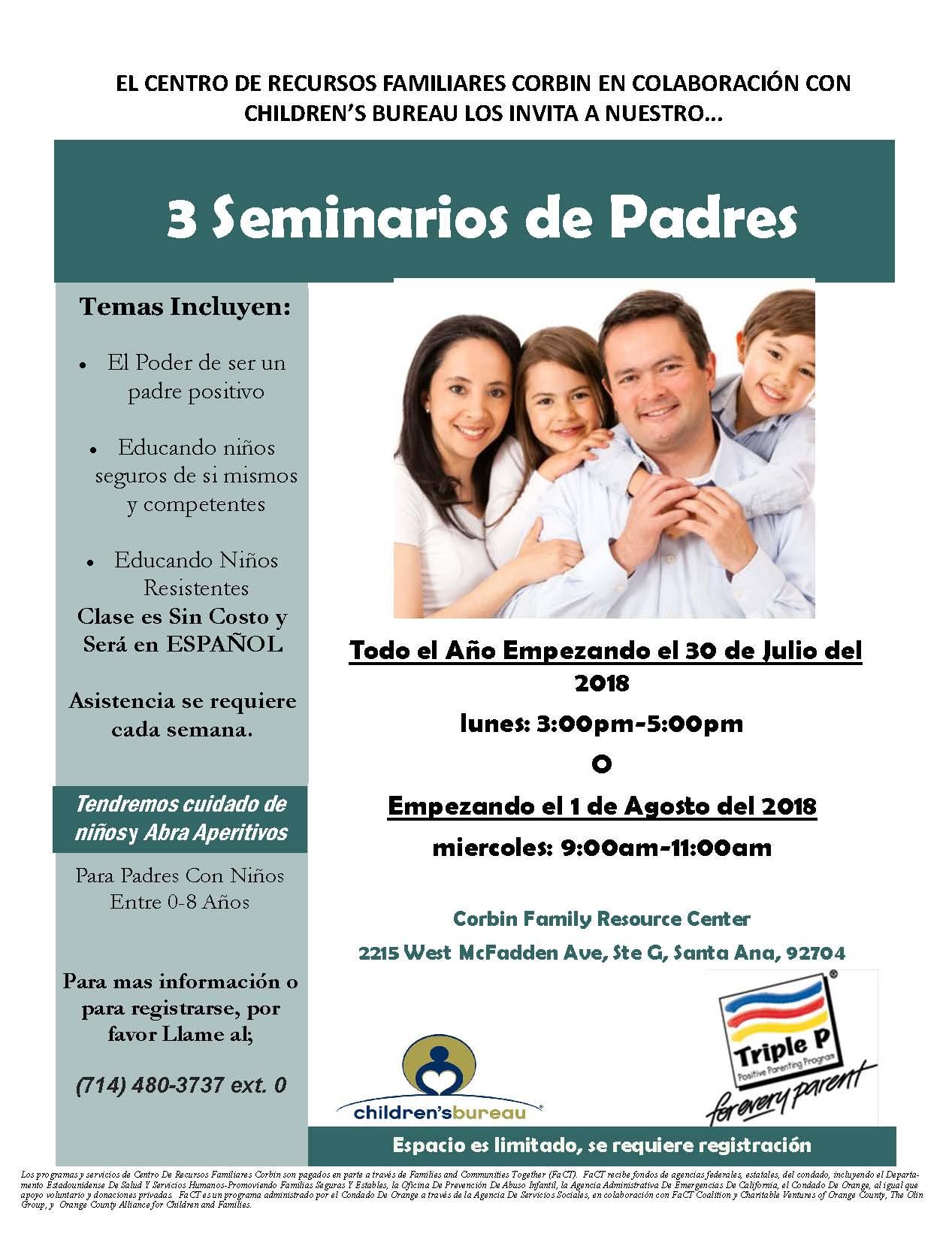 Corbin- Parenting (Triple P)- Bilingual